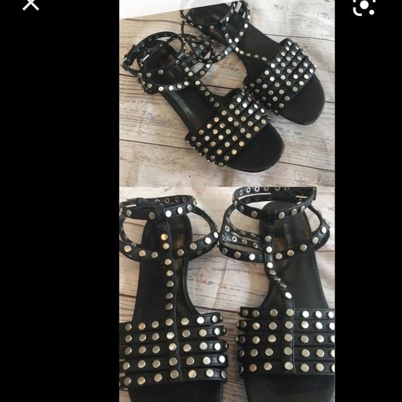 Zara black stud gladiator sandals